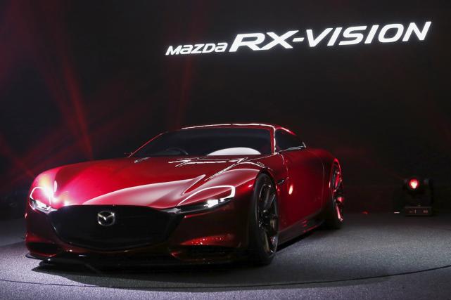 La Mazda RX-Vision, présentée au Salon de Tokyo,... (Photo fournie par Mazda)