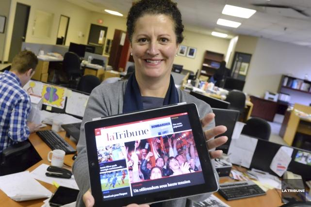 La présidente et éditrice de La Tribune et... (Imacom, Maxime Picard)
