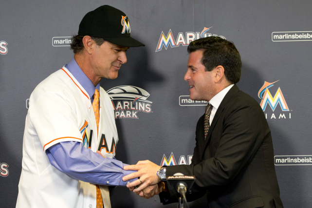 Le nouveau gérant des Marlins de Miami, Don... (Photo Wilfredo Lee, AP)