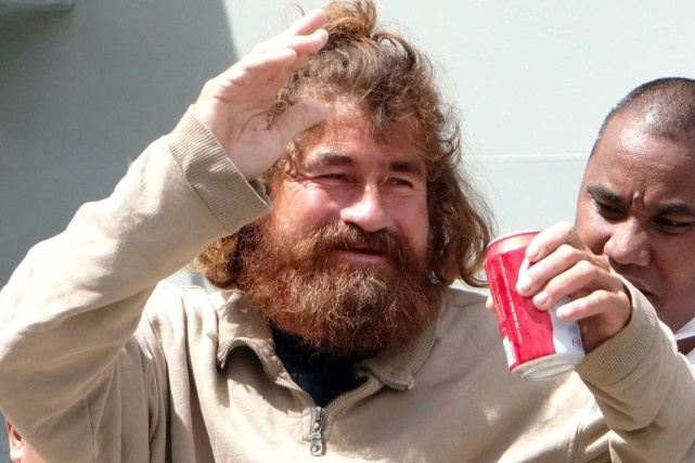 En janvier 2014, José Salvador Alvarenga, un pêcheur... (PHOTO HILARY HOSIA, ARCHIVES AFP)