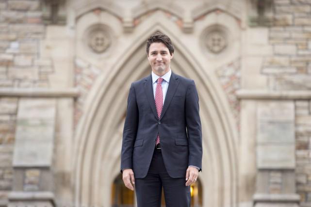 La cérémonie d'assermentation du cabinet de Justin Trudeau... (Photo Adrian Wyld, PC)