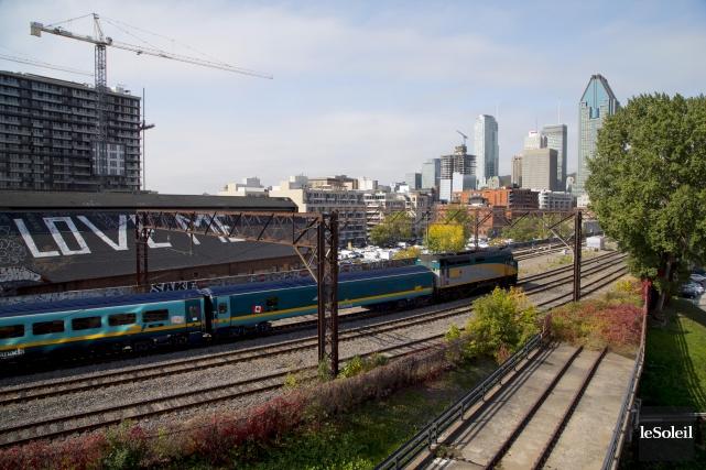 Tout espoir n'est pas perdu de voir le train à grande fréquence (TGF) se rendre... (Photothèque Le Soleil)