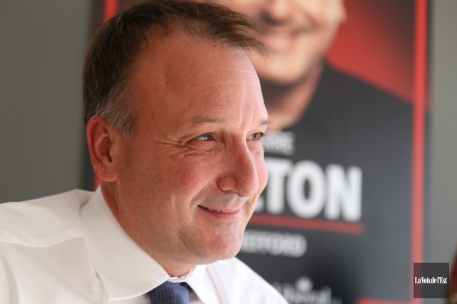 Le nouveau député fédéral de Shefford, Pierre Breton.... (archives La Voix de l'Est)
