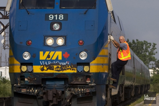 J'ai pris le train pour aller à Montréal, le 21octobre dernier. En arrivant à... (archives La Presse)