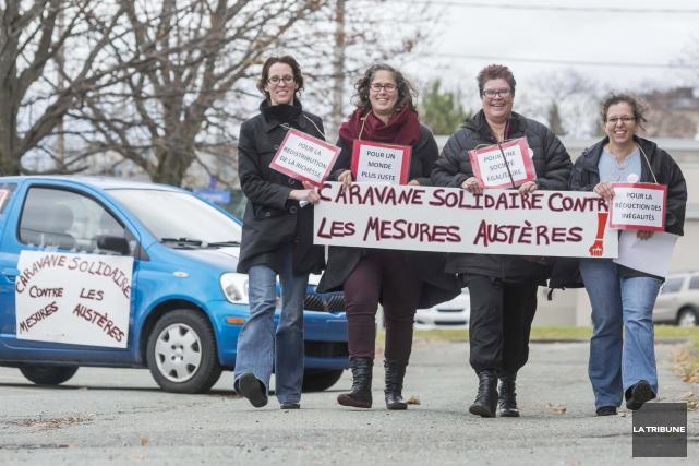 La Caravane solidaire contre les mesures austères a... (Imacom, Frédéric Côté)