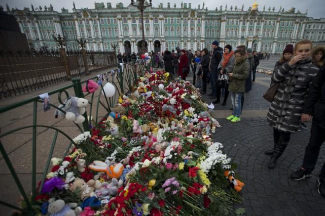 À Saint-Pétersbourg, d'où étaient originaires la majorité des... (PHOTO AP)