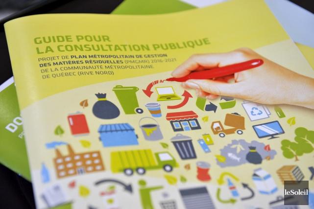 Le Plan métropolitain de gestion des matières résiduelles... (Le Soleil, Yan Doublet)