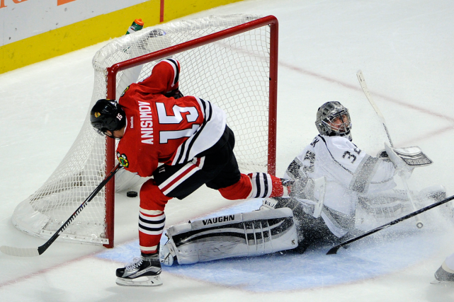 Artem Anisimov a déjoué le gardien des Kings Jonathan... (Photo David Banks, USA Today)