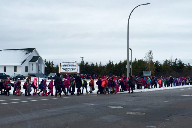 Les élèves de l'École du Boisé à Sept-Îles,... (Collaboration spéciale, Fanny Lévesque)