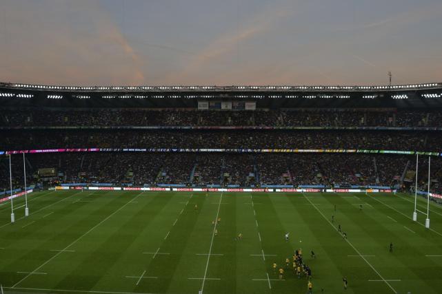 Le stade de Twickenham, à Londres, a accueillidimanche... (Photo Paul Ellis, AFP)