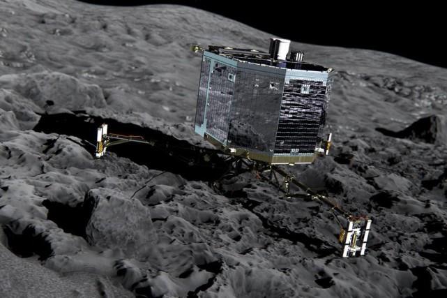Pour que Philae puisse communiquer avec Rosetta, il... (PHOTO ARCHIVES ESA/AP)