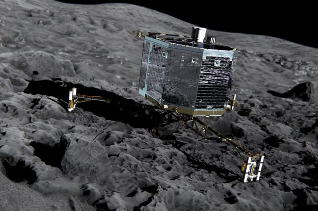 Le robot Philae... (PHOTO ARCHIVES ESA/AP)