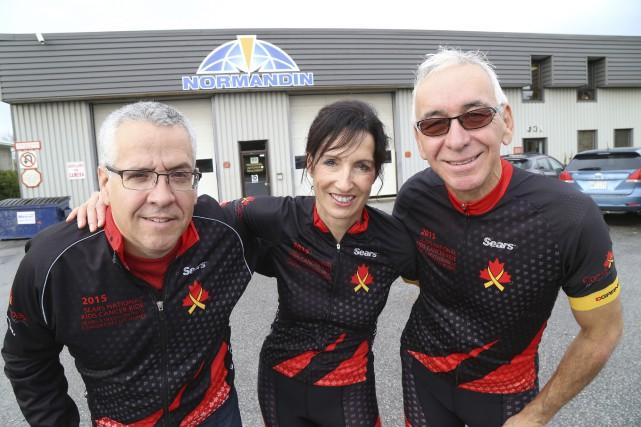 Mario Ferland, Hélène Tremblay et Claude Paré forment... (Photo Janick Marois)