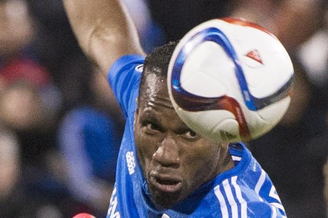 L'attaquant étoile Didier Drogba, de l'Impact de Montréal,... (Archives La Presse Canadienne)