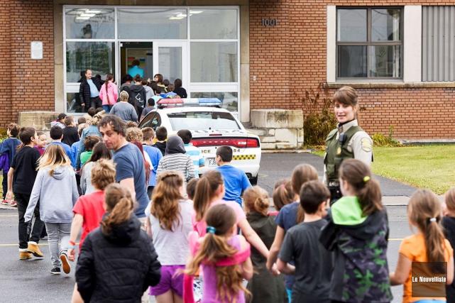 À l'école Antoine-Hallé de Grand-Mère, les élèves ont... (Le Nouvelliste, François Gervais)