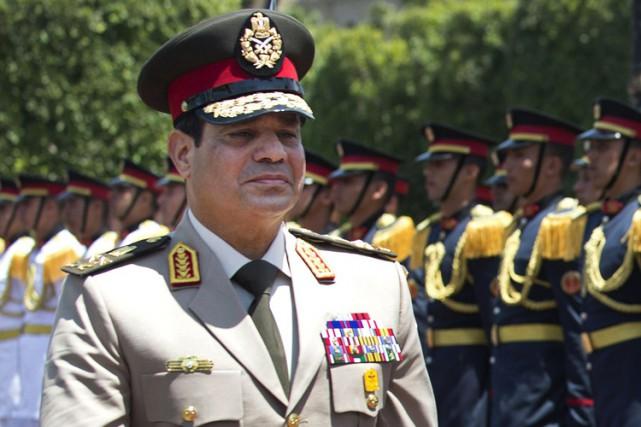 Le président égyptien et ex-chef de l'arméeAbdel Fattah... (PHOTO ARCHIVES AP)