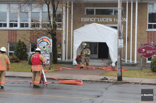 Une alarme incendie a forcé l'évacuation du CPE... (Audrey Tremblay, Le Nouvelliste)