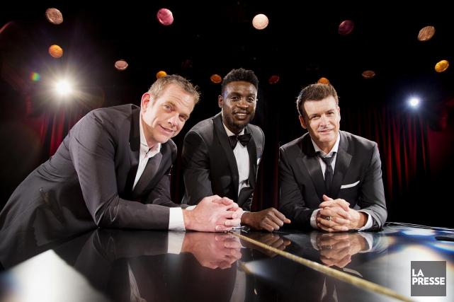Trois beaux gars, trois bons chanteurs, trois vedettes... (Archives La Presse)