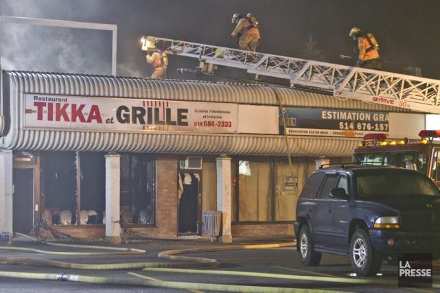 Le restaurant Tikka et Grille, situé dans un... (PHOTO FÉLIX O.J. FOURNIER, COLLABORATION SPÉCIALE)