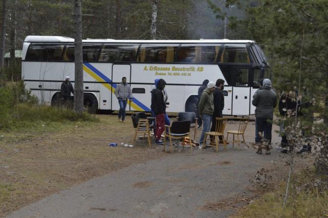 La Suède attend jusqu'à 190000 réfugiés cette année.... (PHOTO NISSE SCHMIDT/TT, AFP)