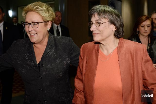 Pauline Marois et Dominique Payette en 2014... (Photothèque Le Soleil, Erick Labbé)