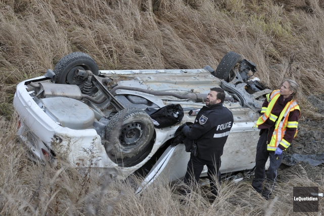 Un accident impliquant deux véhicules a fait deux... ((Photo Le Quotidien-Rocket Lavoie))