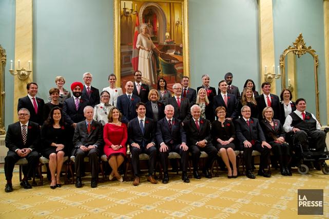 Le nouveau premier ministre Justin Trudeau a dévoilé... (PHOTO DAVID BOILY, LA PRESSE)