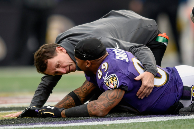 Le receveur de passes des Ravens Steve Smith... (Photo Gail Burton, AP)