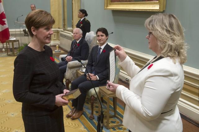 Marie-Claude Bibeau a été assermentée mercredi à Ottawa.... (Photo PC)