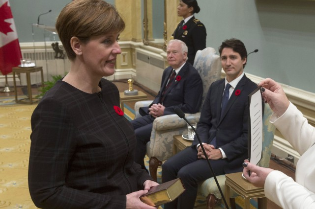 Marie-Claude Bibeau a été assermentée mercredi à Ottawa... (Photo PC)
