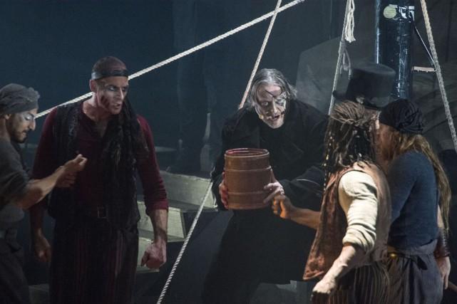 Normand D'Amour interprète le personnage du capitaine Achab... (Stéphane Lessard)