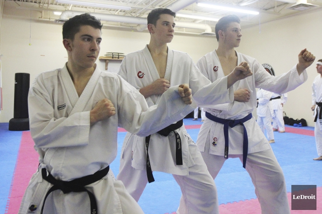 Nicholas Patrick, Maxym-Olivier et Alexandre Benjamin s'envolent vendredi... (Etienne Ranger, LeDroit)