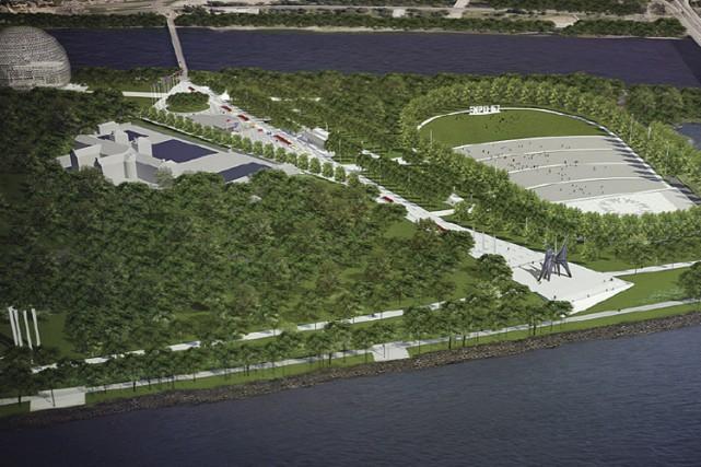 Le futur amphithéâtre naturel de l'île Sainte-Hélène (à... (IMAGE FOURNIE PAR LA VILLE DE MONTREAL)