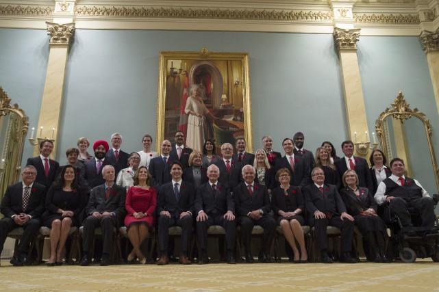 Le Conseil des ministres de Justin Trudeau... (Presse Canadienne)