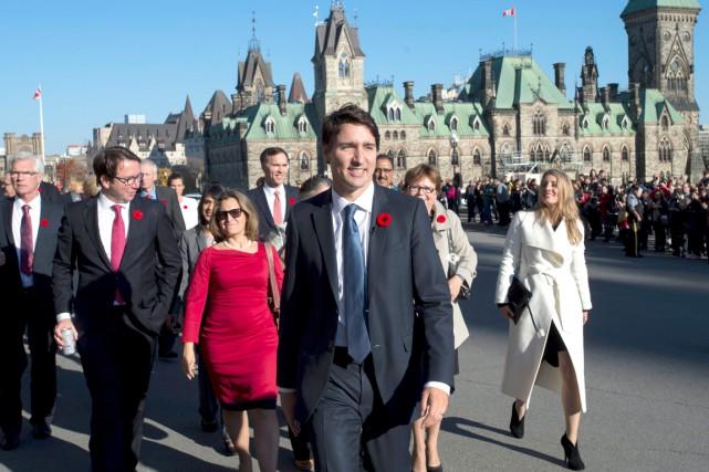 Justin Trudeau a décidé de rompre avec l'habitude... (La Presse Canadienne, Justin Tang)