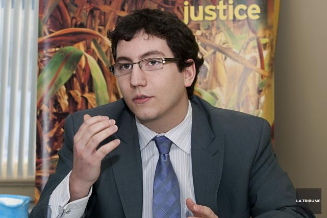 Le député du NPD Pierre-Luc Dusseault espère que... (Archives, La Tribune)