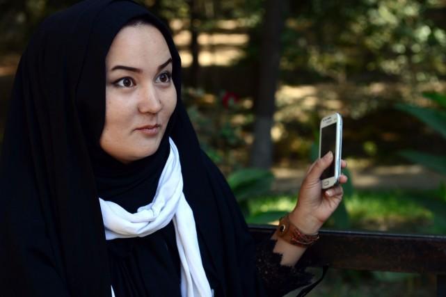 En cette fin octobre, Fatima, une psychologue de... (PHOTO AREF KARIMI, AFP)