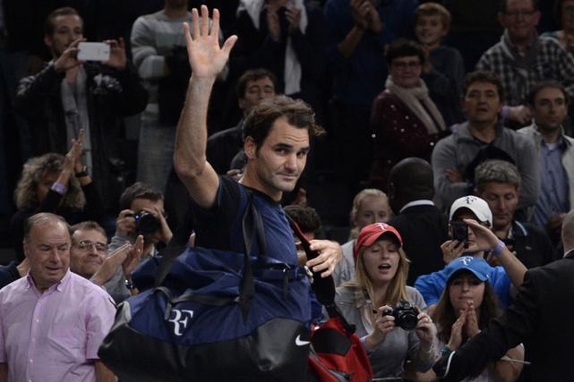 Le deuxième joueur mondial Roger Federer a été... (Photo Miguel Medina, AFP)