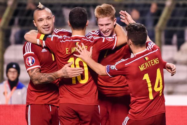 La Belgique s'est hissée au premier rang grâce... (Photo Geert Vanden Wijngaert, AP)