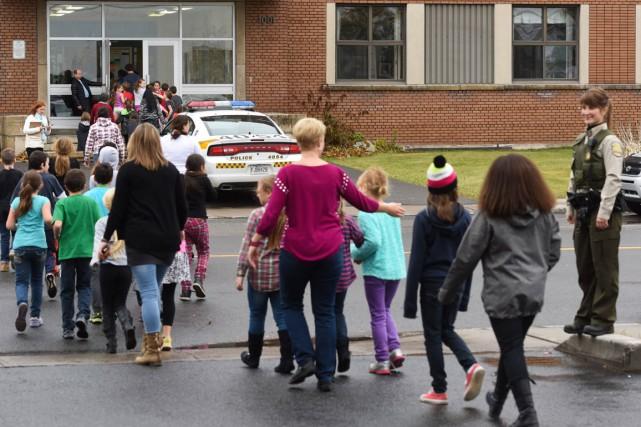 des enfants ont dû être évacués lors des... (Archives)