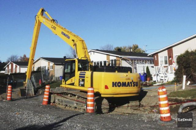 Le chantier de la rue de Pigalle, laissé... (Etienne Ranger, LeDroit)