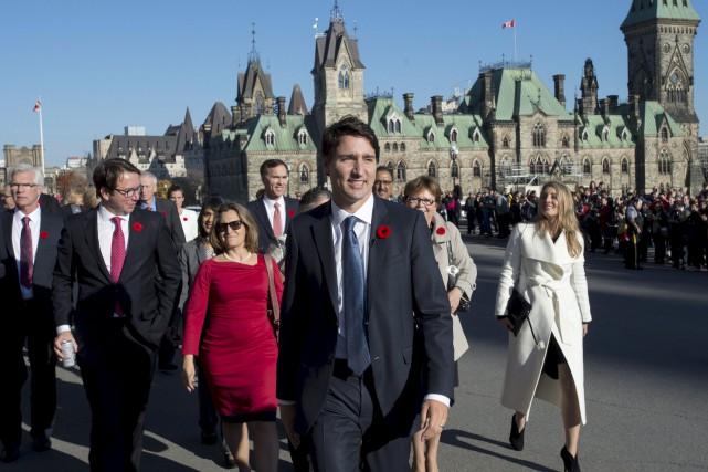 L'explication succincte du premier ministre Trudeau à une... (Justin Tang, PC)