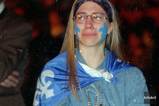 Le 30 octobre 1995, Marie-Pier Larrivée avait 20... (PHOTOTHÈQUE LE SOLEIL, PATRICE LAROCHE)