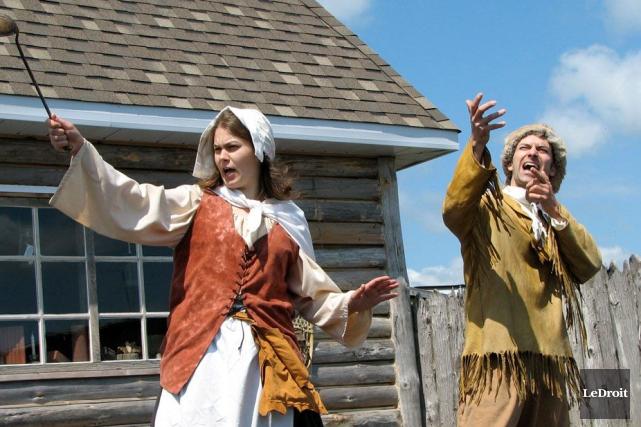 Les instigateurs du projet, avec costumes d'époque, lors... (Archives LeDroit)