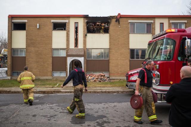 Un incendie endommage un immeuble à Trois-Rivières (François Gervais)
