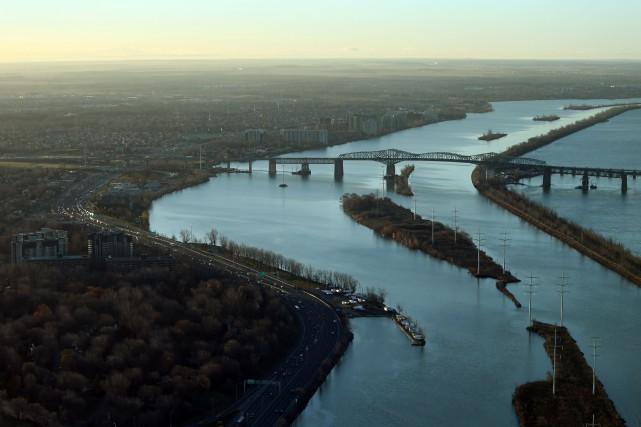 Le pont Champlain est complètement fermé en direction... (Photo d'archives)