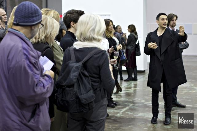 L'exposition Neutralité de Rad Hourani (à droite) est... (PHOTO OLIVIER JEAN, LA PRESSE)
