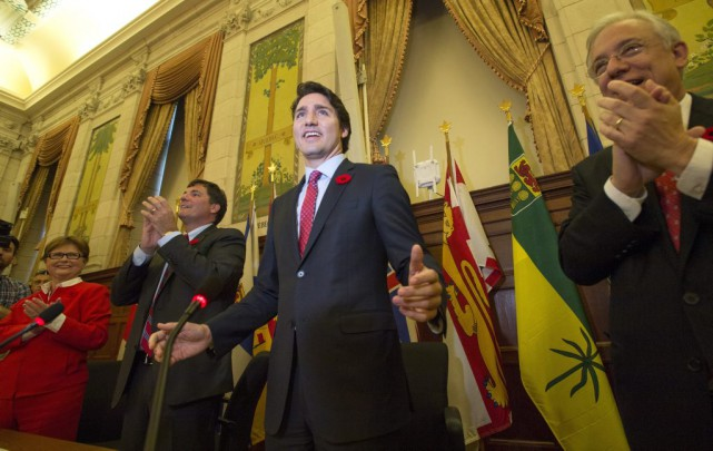 Il y a six mois, Justin Trudeau, le... (La Presse Canadienne)