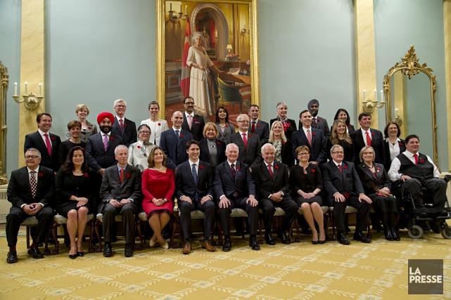 Le cérémonie d'assermentation du nouveau conseil des ministres... (Photo archives La Presse)