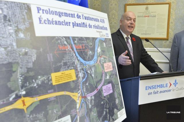 Le ministre des Transports du Québec, Robert Poëti,... (Imacom, Maxime Picard)